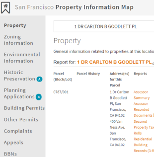 San Francisco Property Information Map San Francisco Planning Department GIS Tools
